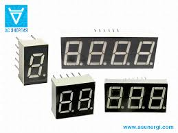 Индикатор 7-сегментный цифровой 1, 2, 3, 4 разрядный - ас энергия