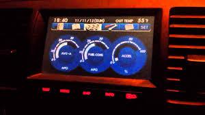 2006 Subaru Legacy GT NAV gauges - YouTube