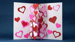 Homemade Valentine Card Diy Pop Up Heart Card Easy Tutorial