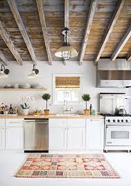 5 natural solid wood kitchen cabinets set interior