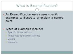 exemplification chapter ppt 2 what is exemplification
