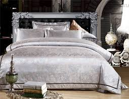 red silver gold tencel and cotton bedding set Satin duvet ... & red silver gold tencel and cotton bedding set Satin duvet comforter quilt  cover flat sheet Jacquard Embroidery wedding bed set-in Bedding Sets from  Home ... Adamdwight.com