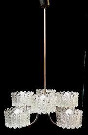 Xxl Large Vintage Hanging Lamp 70s Kronleuchter Heavy Crystal Lamp Chrome Chandelier Mid Century Germany Like Emperor Pendant Lamp