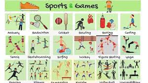 List of Sports: Types of Sports and Games in English | Sports List with  Pictures - YouTube