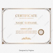 Certificate Format Vector Free Download Copy Fresh In Design
