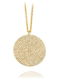 14k gold pave diamond pendant on chain 3 350 00 style