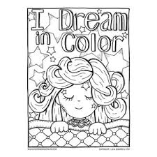 Small Picture Cute Sleeping Girl Coloring Page