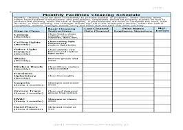 Janitorial Cleaning Checklist Template Or Kitchen Checklist