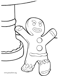 Shrek The Gingerbread Man Coloring Page