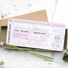 Boarding Pass Wedding Invitation Vintage Style By Paper And Inc