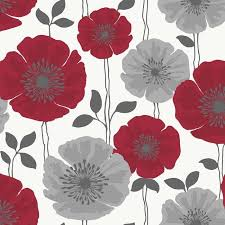 Flower Wall Paper Border Gray And Cream Wallpaper Border Red Silver Grey White