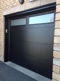 modern garage doors. Modern Black Garage Doors With Windows : Distinctive Door Modern Garage Doors