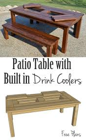 Table Drinks Cooler Best 25 Drink Coolers Ideas On Pinterest Diy Patio Tables