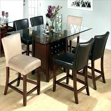 round glass top counter height dining sets set with storage st