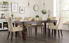 hampshire walnut extending dining table with 4 bewley oatmeal chairs only 699 99