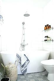 freestanding tub in small bathroom a very with patterned grey tile floor and for designs bathtub freestanding tub in small