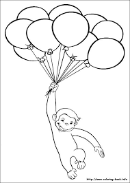 Curious George Coloring Picture Birthday Party Themes And Ideas