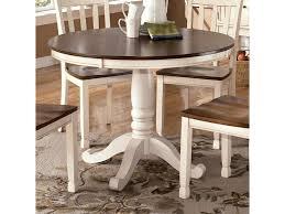 Whitney Two Tone Round Table With Pedestal Base Rotmans Kitchen