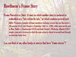 hawthorne s frame story