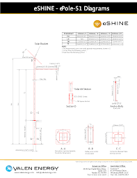 standard solar lighting pole mount valen energy installation data sheet quick view