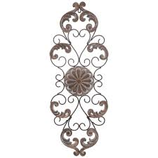 carved medallion flourishes metal