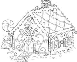 ⭐ free printable gingerbread house coloring book. Free Printable Gingerbread House Coloring Pages For Kids