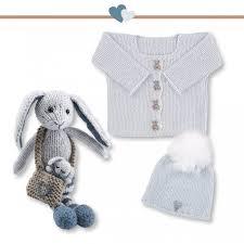 Rabbit Cardigan Hat Pattern Kit Knitting From Go Handmade
