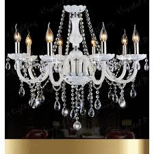 white crystal chandelier 8 arms