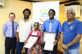 thag awards winners of through my eyes essay contest winners of the thag essay competition victoryne mohabir and omari obaseki joseph at centre