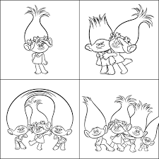 Free Downloadable Trolls Colouring Sheets Kids On The Coast