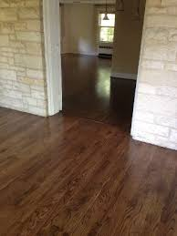 red oak with jacobean stain this is the one love it not too dark not too light with lots of variation