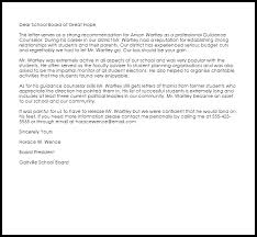 guidance counselor re mendation letter