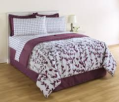 essential home piece complete bed set  vertical vines  dots