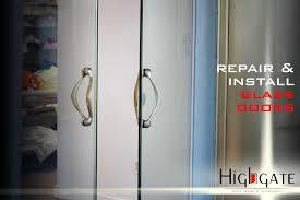 commercial glass doors door repair in