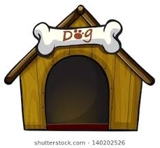 dog house clipart. Exellent Clipart Illustration Of A Dog House With Bone On White Background And Dog House Clipart