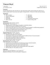 Modern Decoration Housekeeping Summary For Resume Housekeeping