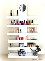 Makeup Shelf Wall Mounted Organizer Nail With Ideas 9