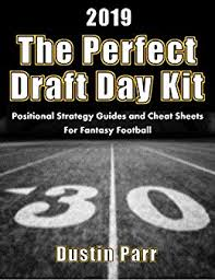 Standard Nfl Team Depth Chart Cheat Sheets The Perfect Draft Day Kit 2019 Positional Strategy Guides And Cheat Sheets For Fantasy Football