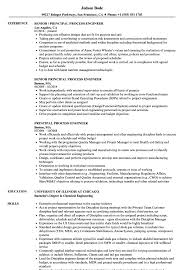 Principal Process Engineer Resume Samples Velvet Jobs