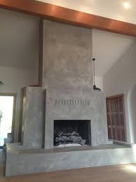 venetian plaster over brick fireplace ideas