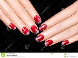 Nail Art. Luxury Nail Polish. Nail Stickers Stock Photo - Image ...