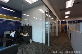 frameless glass walls creating interior spaces