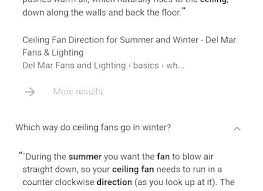 ceiling fan direction for winter what direction should a ceiling fan turn ceiling fan direction for