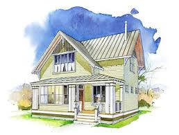 images about House Plans on Pinterest   Little Houses  The    The Meadow is a small house plan   a unique great room layout and two bedrooms   private baths upstairs