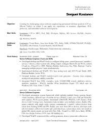 Resume Text Format 66 Images Resume In Text Format Example