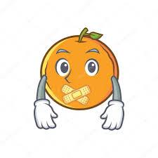 Personnage De Dessin Anim Muet Fruits Orange Image Vectorielle