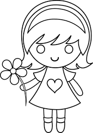 Small Picture Little Girl 10 Characters Printable coloring pages