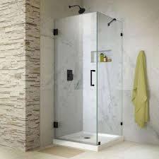 unidoor lux 30 in x 72 in frameless hinged corner shower enclosure
