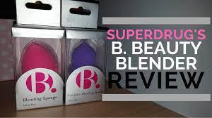 Superdrugs B. Beauty Blender Review - YouTube