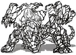 アニメ塗りドラゴンに乗った女の子の描き方メイキング モンスター